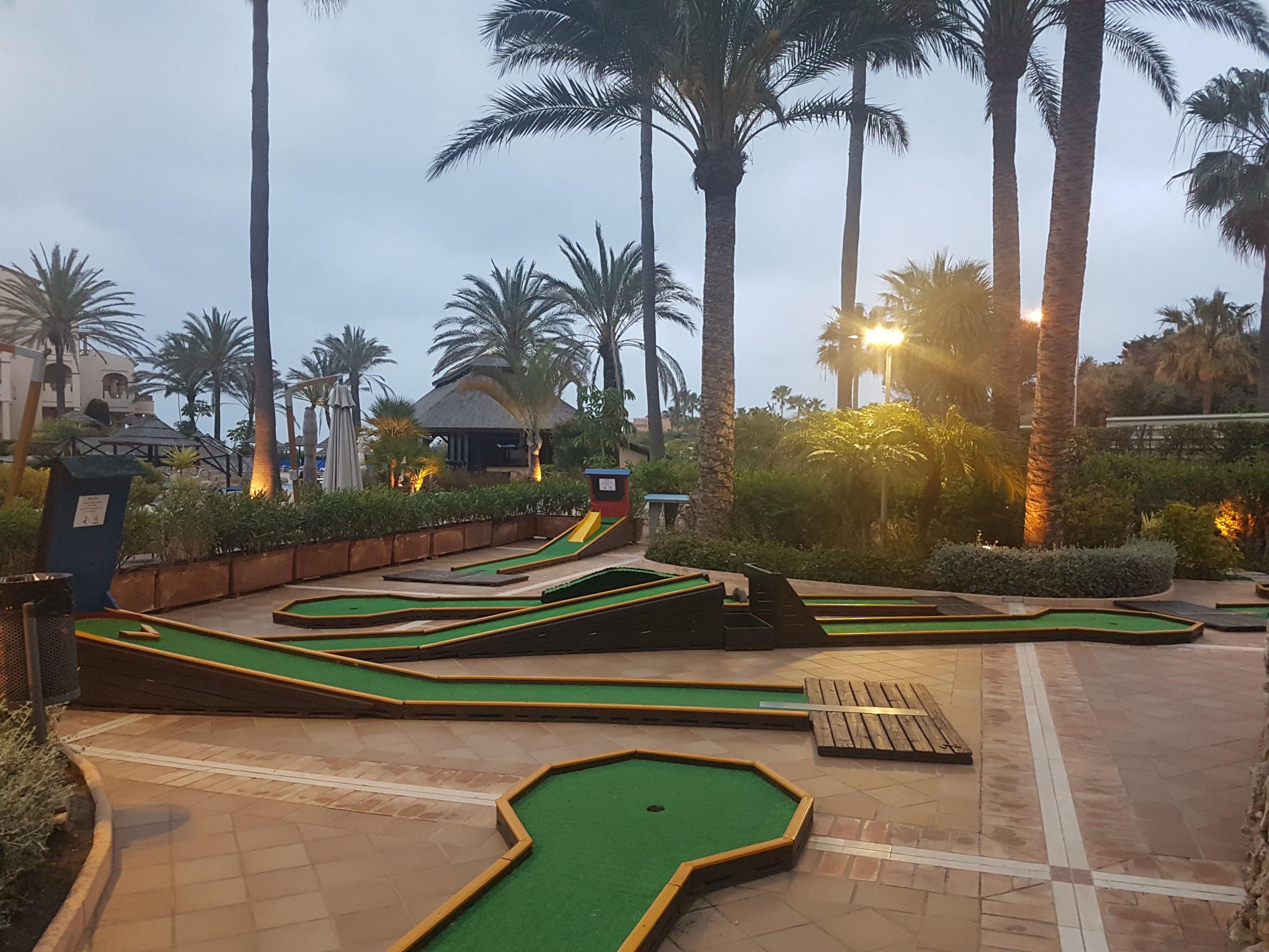 Mini golf at the resort